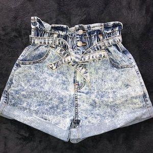 Bad Girl Paperbag Waist Shorts
